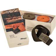 Blaser Canvas Gürtel Set orange/oliv/braun