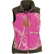 Pinewood Henrietta Fleeceweste Damen Realtree AP Hot Pink HD®/Jagdgrün