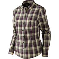 Härkila Lara Lady Hemd Plum perfect check