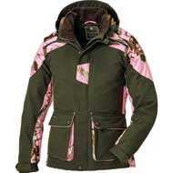 Pinewood Red Deer Jagdjacke Damen Moosgrün/Realtree AP Pink HD®