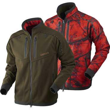 cb5b2ac4ebaa HÄRKILA Lynx Reversible Fleece Jacke Willow green/AXIS MSP® Red Blaze