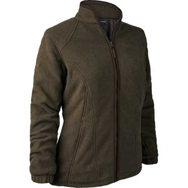 DEERHUNTER Lady Josephine Fleece mit Membrane Graphite Green